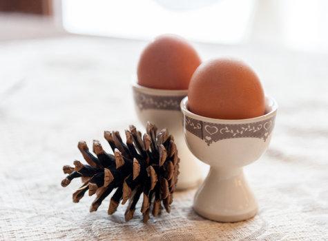 Boiled eggs breakfast